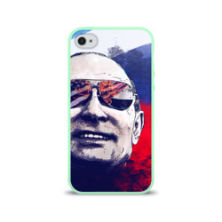 Чехол для Apple iPhone 4/4S силиконовый глянцевыйПутин