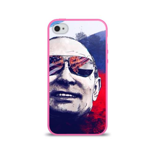 Чехол для Apple iPhone 4/4S силиконовый глянцевый Путин