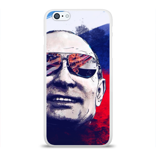 Чехол для Apple iPhone 6Plus/6SPlus силиконовый глянцевый Путин
