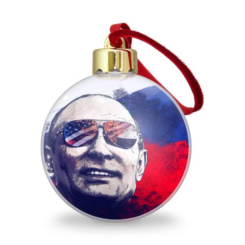 Ёлочный шар с блестками  Фото 01, Путин