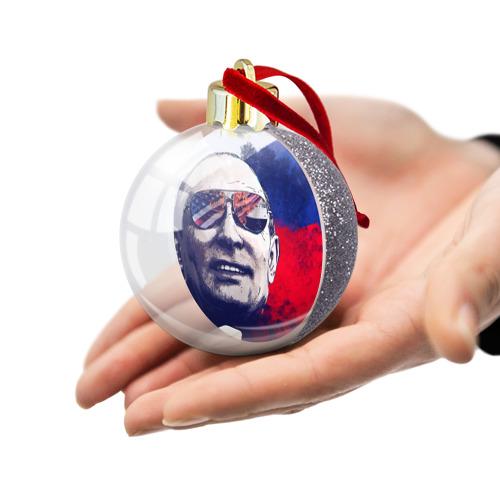Ёлочный шар с блестками  Фото 03, Путин