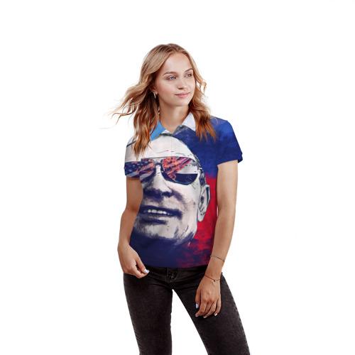Женская рубашка поло 3D Путин Фото 01