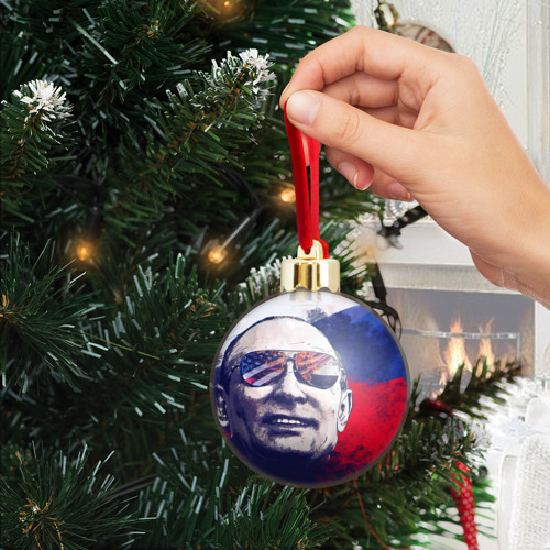 Ёлочный шар с блестками  Фото 04, Путин