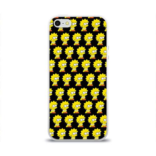 Чехол для Apple iPhone 5/5S силиконовый глянцевый Лиза Симпсон