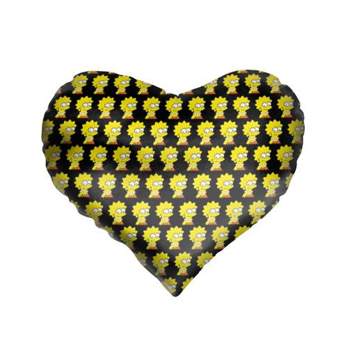 Подушка 3D сердце Лиза Симпсон