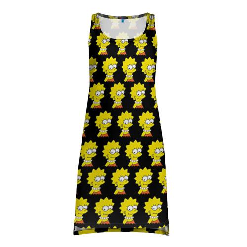 Платье-майка 3D Лиза Симпсон
