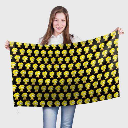 Флаг 3D Лиза Симпсон