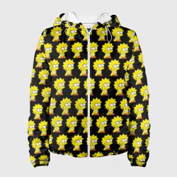 Женская куртка 3DЛиза Симпсон