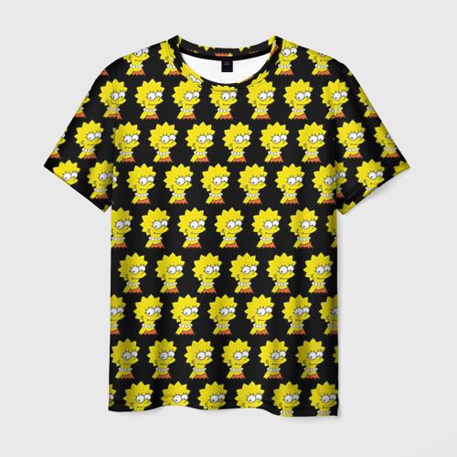 Мужская футболка 3D Лиза Симпсон