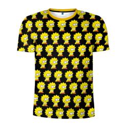 Мужская футболка 3D спортивнаяЛиза Симпсон