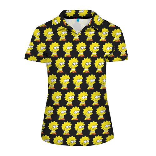 Женская рубашка поло 3D Лиза Симпсон