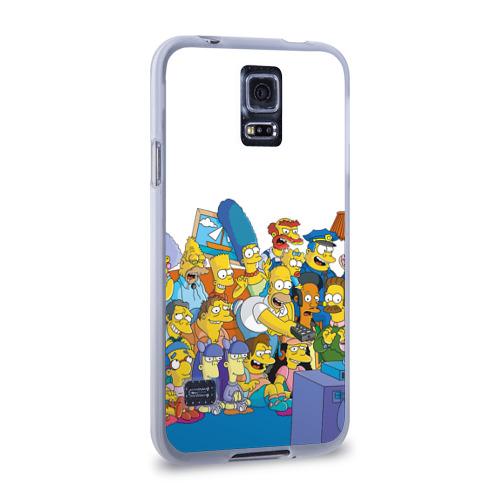 Чехол для Samsung Galaxy S5 силиконовый  Фото 02, Симпсоны