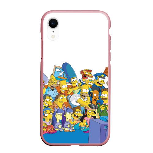 Чехол для iPhone XR матовый Симпсоны Фото 01