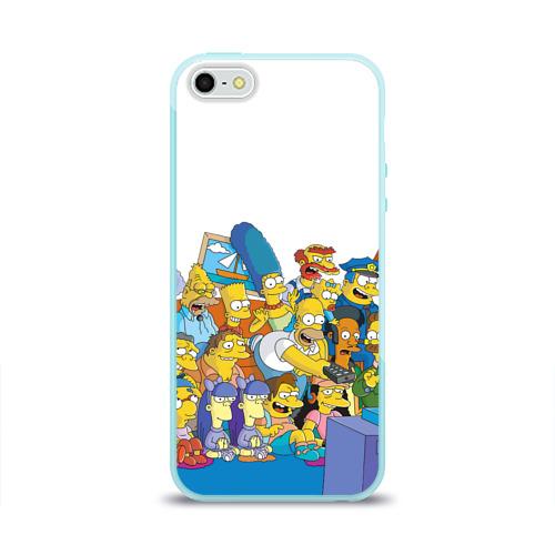 Чехол для Apple iPhone 5/5S силиконовый глянцевый Симпсоны