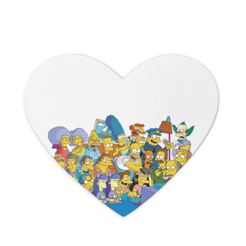 Коврик для мыши сердце Симпсоны