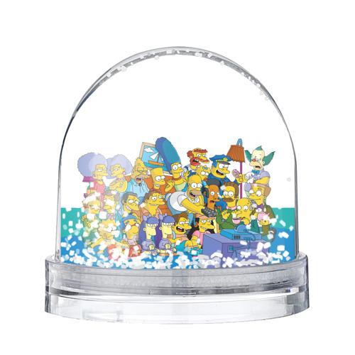 Водяной шар со снегом Симпсоны