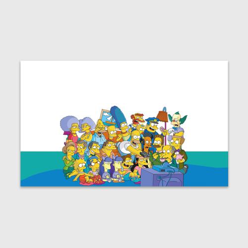 Бумага для упаковки 3D Симпсоны