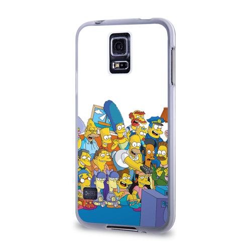 Чехол для Samsung Galaxy S5 силиконовый  Фото 03, Симпсоны