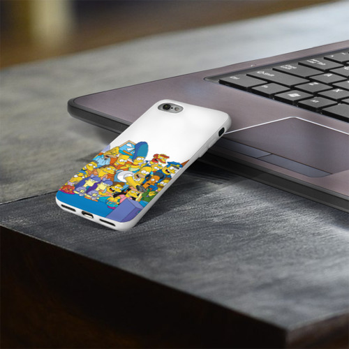 Чехол для Apple iPhone 8 силиконовый глянцевый  Фото 03, Симпсоны