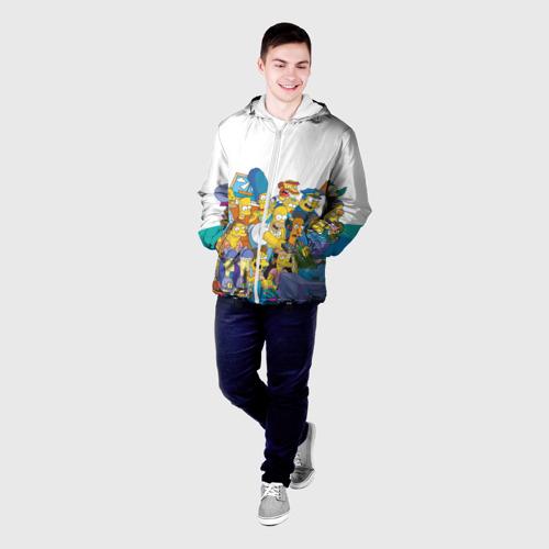 Мужская куртка 3D Симпсоны Фото 01