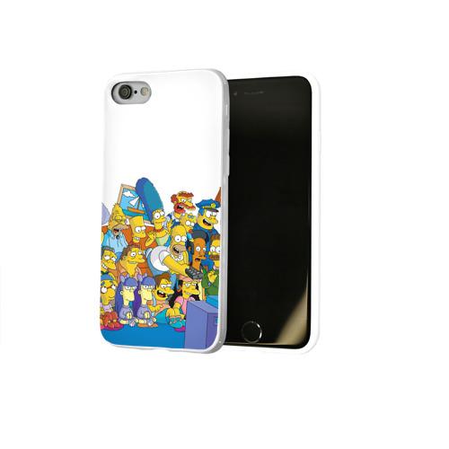 Чехол для Apple iPhone 8 силиконовый глянцевый  Фото 02, Симпсоны