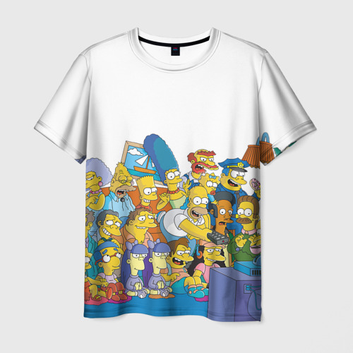Мужская футболка 3D Симпсоны
