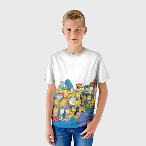 Детская футболка 3D Симпсоны