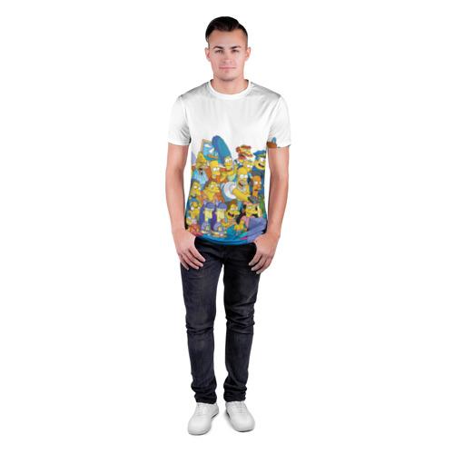 Мужская футболка 3D спортивная  Фото 04, Симпсоны