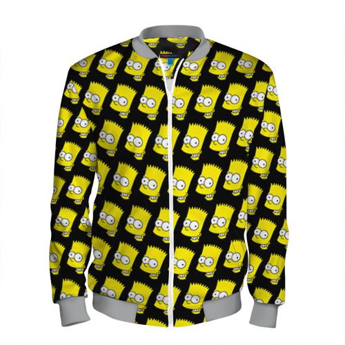 Мужской бомбер 3D Барт Симпсон