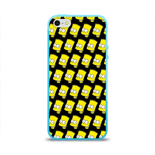 Чехол для Apple iPhone 5/5S силиконовый глянцевый Барт Симпсон