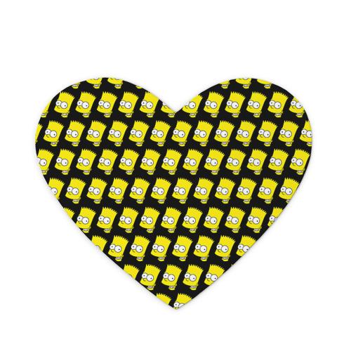Коврик для мыши сердце Барт Симпсон
