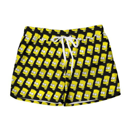 Женские шорты 3D Барт Симпсон