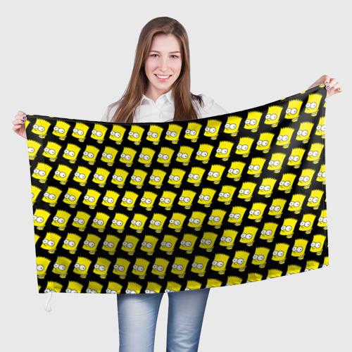 Флаг 3D Барт Симпсон