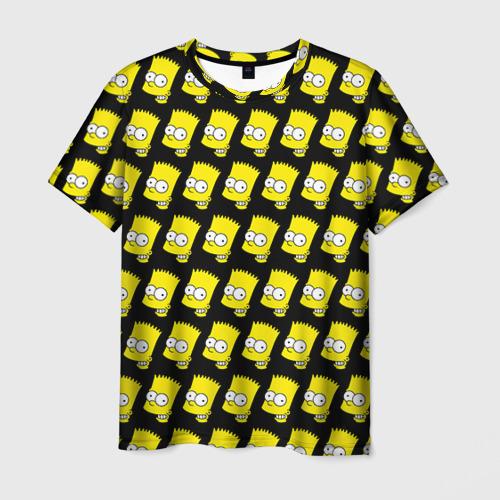 Мужская футболка 3D Барт Симпсон