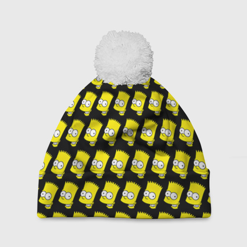 Шапка 3D c помпоном Барт Симпсон