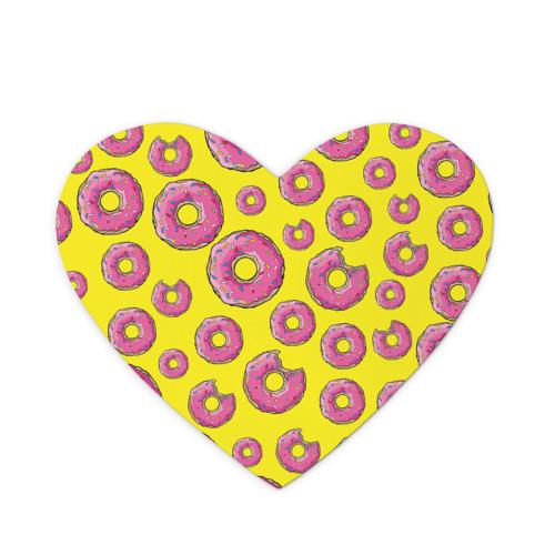 Коврик для мыши сердце Пончики