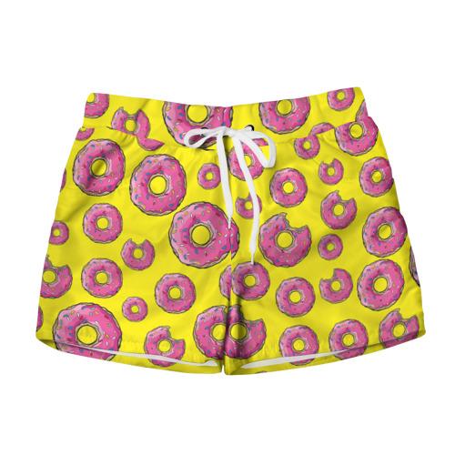 Женские шорты 3D Пончики