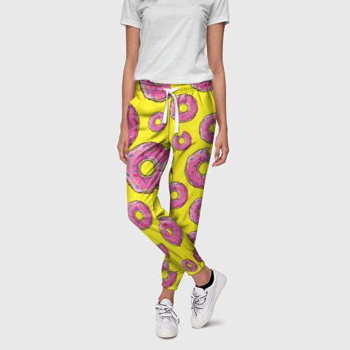 Женские брюки 3D  Фото 01, Пончики