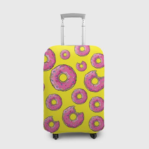 Чехол для чемодана 3D Пончики