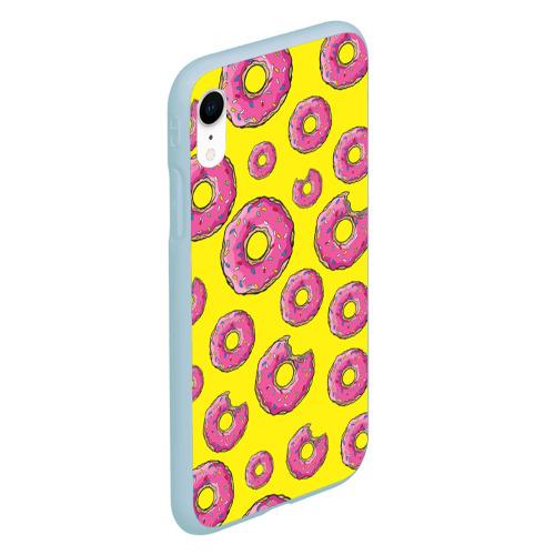 Чехол для iPhone XR матовый Пончики Фото 01