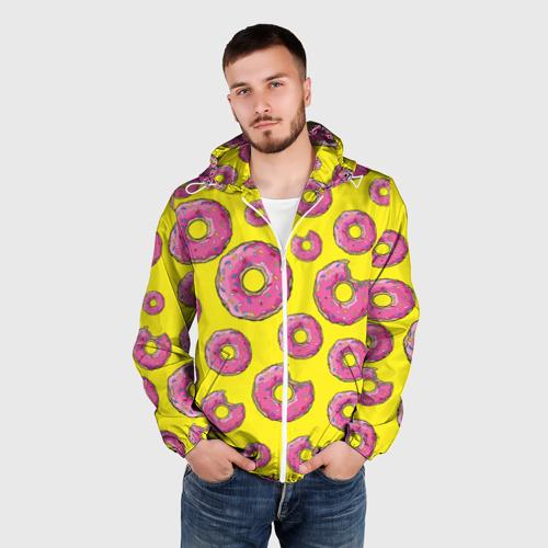 Мужская ветровка 3D  Фото 03, Пончики