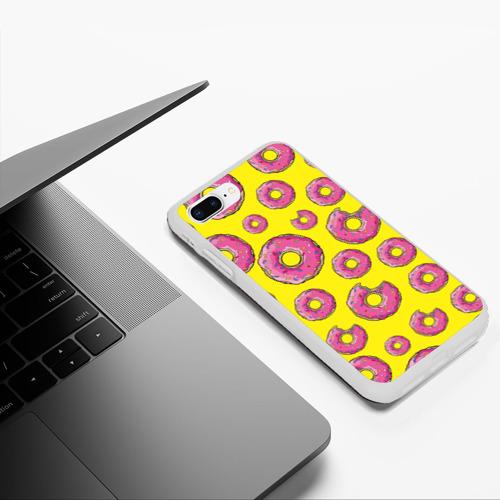 Чехол для iPhone 7Plus/8 Plus матовый Пончики Фото 01