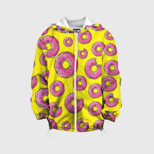 Детская куртка 3D Пончики