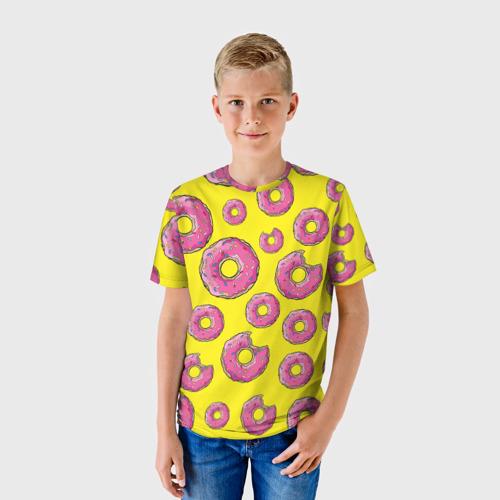 Детская футболка 3D Пончики