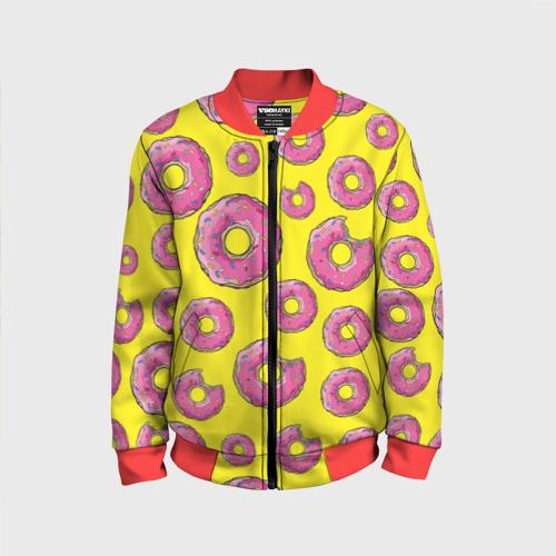 Детский бомбер 3D Пончики