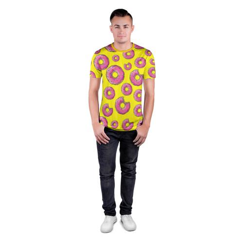 Мужская футболка 3D спортивная Пончики Фото 01