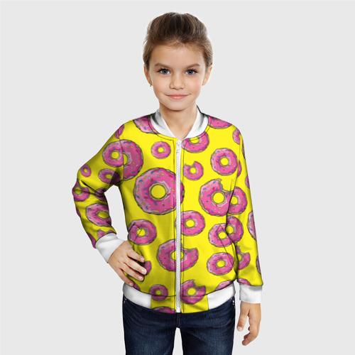 Детский бомбер 3D  Фото 06, Пончики