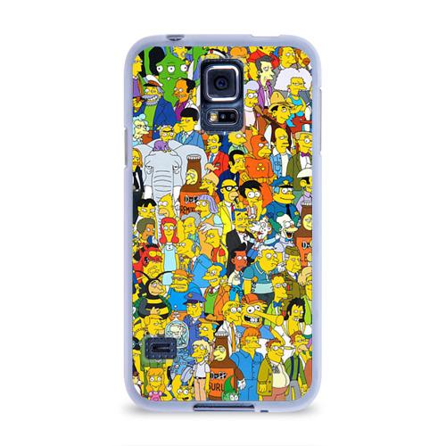 Чехол для Samsung Galaxy S5 силиконовый Симпсоны