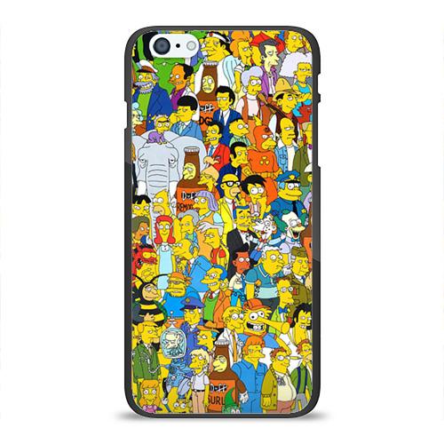 Чехол для Apple iPhone 6 Plus силиконовый глянцевый Симпсоны от Всемайки