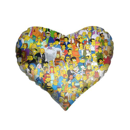 Подушка 3D сердце Симпсоны